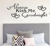 pegatina de vinilo dormitorio beso al por mayor-