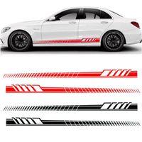 autoadhesivos laterales al por mayor-Auto Car Waist Side Skirt Decoración Stickers AMG Edition Racing Stripe Side Body Garland para Mercedes Benz Clase C GGA1733