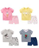 ensembles de vêtements pour bébés nouveau-nés achat en gros de-Kids Designer Clothes Filles Cartoon Shark New Born Bébé Garçon De La Mode Vêtements Outfits Bébé Fille Casual Vêtements Ensembles