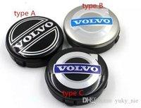 volvo rozeti toptan satış-50 adet 64 mm siyah gri araba tekerlek orta Hub kap Jant S60 S80L XC60,3546923 Araç şekillendirme için Volvo Fit için amblem rozeti kapak kapakları