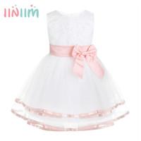 kleid blüten großhandel-iiniim Neugeborene Baby Mädchen Kleidung für 1. Geburtstag Party Flower Dress Vestidos formale Tutu Kleid mit Bloomers Sommer