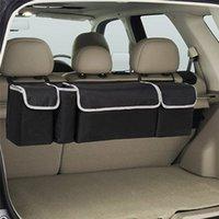 iç araç poşetleri toptan satış-Araba Gövde Organizatör Backseat Saklama Çantası Yüksek Kapasiteli Çok kullanımlı Oxford Kumaş Araba Koltuğu Geri Organizatörler Iç Aksesuarla ...