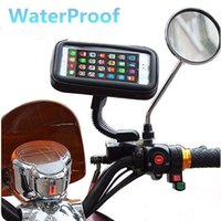 Wholesale phone holder motorcycle iphone for sale – best Motorcycle Scooter Rear View Mirror Mount Phone Holder Stand Mount with Water Resistance Zipper Case for iPhone XS Galaxy S9 car