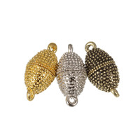 крючки магнитные оптовых-Exweup 10 шт./лот 11*22 мм модные сильные магнитные застежки для ожерелье браслет цепи родием пряжки крюк DIY ювелирных изделий