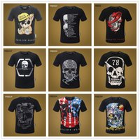 camiseta unissex venda por atacado-18SS Mix 22 modelos Homens Marca TShirts Crânio Do Pirata Personalizado T-shirt Dos Homens Engraçados Raglan Da Luva de Algodão Camiseta T Camisas Unisex Mal