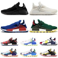 Hot selling 2019 Human race Hu trail x pharrell williams Nerd running shoes for men black white blue green cream mens trainers sports sneakers