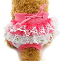 Wholesale extra large dog diapers for sale - Group buy Kawaii Puppy Cotton Physiological Pants Tighten Strap Briefs Sanitary Cute Short Pantyhose Dog Soft Clean Underwear Diapers