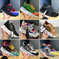 Wholesale yellow plastic chain for sale - Group buy New Chain Reaction Shoes Casual Fashion Designer Sneakers Lightweight Link Embossed Sole Mesh Rubber Leather Men Women With Dust Bag