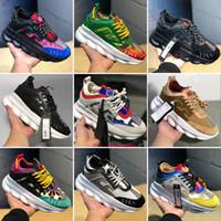 deri moda gündelik çanta toptan satış-Yeni Zincir Reaksiyon Ayakkabı Rahat Moda Tasarımcısı Sneakers Hafif Link-Kabartmalı Taban Örgü Kauçuk Deri Erkek Kadın Ile Toz Torbası