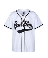 Wholesale xxl party clothes for sale – halloween Badboy Biggie Baseball Jersey S XXXL White S Hip Hop Clothing for Party Stitched Letters and Numbers