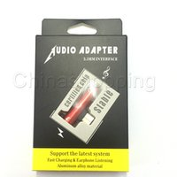 Wholesale splitter connector adapter for sale - 2 In Type C USB to mm Audio Charging Dual Adapter AUX Splitter Charger Earphone AUX Cable Connector Converter With retail Package