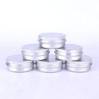 маленькие пустые контейнеры оптовых-Tin box Refillable Containers 30ml Aluminum Cosmetic Small Tins Storage Jars Empty Cosmetic Screw Top Sample Containers
