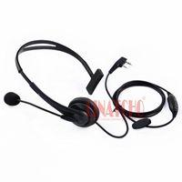 auriculares tácticos bowman elite ii al por mayor-Pequeño lado solo PTT Kenwood walkie talkie micrófono auricular Baofeng radio de dos vías para auriculares universal tipo K