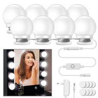 Wholesale led white wall curtain lights for sale - Group buy 10Pcs Makeup Mirror Vanity LED Light Bulbs lamp Kit Levels Brightness Adjustable Lighted Make up Mirrors Cosmetic lights Wall lamps