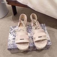 Wholesale very shoes resale online - A very comfortable lady s flat woven sandals fashion luxury shoes high quality summer wild beach non slip retro shoes