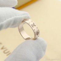 preço do anel de latão venda por atacado-de luxo designer de jóias mulheres anéis de quatro folhas anéis da faixa flor suqre prata titânio de aço em ouro rosa 18K anéis de noivado de ouro para as mulheres
