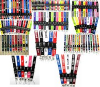 Wholesale team pink clothing for sale - Group buy Team Sprot Clothes Jump man Pink Supe Key chains Detachable Lanyard Badge Holders Mobile Phone Neck Straps