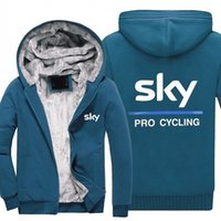 radsport-kapuzenpullis großhandel-Winter Hoodies SKY PRO CYCLING Männer Frauen Warme Herbstkleidung Sweatshirts Reißverschlussjacke Fleece-Hoodie