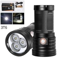 Wholesale XM LED Flashlight xT6 P50 P90 superbright meters Torch waterproof use battery USB rechargeable searching light
