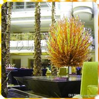 Wholesale best table lamps resale online - Customer Made Chihuly Style Hand Blown Murano Glass Chandelier Lamps in Green and Yellow Color Urban Design for Table Best Design