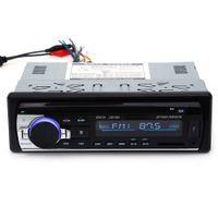 reproductor de mp3 12v auto al por mayor-12V Bluetooth Car Radio Auto Audio Estéreo En el tablero 1 Din FM Receptor Receptor de entrada auxiliar USB MP3 MMC WMA Radio Player para vehículo en stock