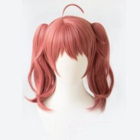 Wholesale anime girl cosplay long hair resale online - Dropshipping Anime DARLING in the FRANXX MIKU Cosplay Pink Long Curly Girls Hair Male Anti wrinkle Synthetic Wigs For Women