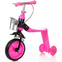 bicicletas para crianças venda por atacado-Kick Scooter 3 Wheel Stand Assento Dobrável 2 Em 1 Crianças Criança Scooter Pé Scooters Brinquedos Presentes Crianças Bicicleta Do Bebê Triciclo