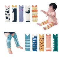Wholesale kids legging cute resale online - Baby Girls Cute Socks Fish Mouth Leg Warmer Infants Cartoon Legging Kneelet Socking Kids Cartoon Socks T