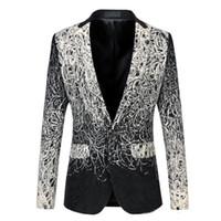 einzigartige blazer groihandel-Blazer Herren Unique Herren Blazer Luxus 5XL 6XL Plus Size Herren Floral Blazer Vintage Casual Anzug Jacke