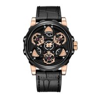 часы наручные оптовых-Бренд Большой Циферблат Время Запуск Кварцевые Личность мужские часы Водонепроницаемые Кожаные Спортивные Часы Мужчины Relogio Masculino Montre Homme