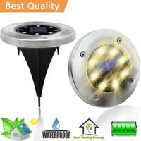 ev için ledli güneş ışığı toptan satış-Ledstar 8 LEDs Güneş Enerjili Su Geçirmez Işık Ev Yard Driveway Çim Yolu Zemin Güverte Bahçe Yolu için