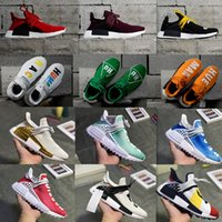 Wholesale jogging shoes online for sale - Human Race Cheap NMD Online Pharrell Williams X NMD Sports Running Shoes discount Athletic mens spikes shoe withbox