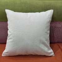 Wholesale 18x18 pillow cushion covers for sale - Group buy 50pcs oz natural canvas pillow case x18 plain raw cotton embroidery blank pillow cover oz thick cotton canvas cushion cover