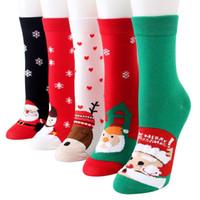 lustige geschenke geben verschiffen frei großhandel-Frauen-Weihnachtsstrumpfwinter warme reizende Karikatur trifft lustige Socke für freies Verschiffen des Damefeiertagsgeschenks hart