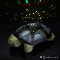 schildkröte nacht licht lampe großhandel-Turtle Nachtlicht Projektor Baby Hilfe Schlaf Spielzeug Lampe Turtle Modell Musik Projektionslampe Weihnachtsdekoration Lampe