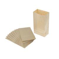 bolsas para empacar pan al por mayor-10 piezas Bolsa de papel Kraft marrón Bolsas de regalo Embalaje Galletas Pan de balsa de caramelo Galletas Pan de nueces Paquete de horneado de refrigerios