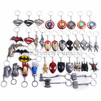masque spiderman iron man achat en gros de-Thanos Infinity Gants 40 Design Porte-clés En Métal Iron Man Gants Masque Marvel Univers Série Série Spiderman Alliage Porte-clés Accessoires