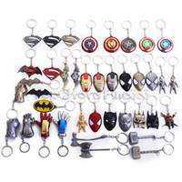 keychain zubehör für männer großhandel-Thanos Infinity Gloves 40 Design Metall Schlüsselbund Iron Man Handschuhe Maske Marvel Universe Series Spiderman Alloy Keyring Zubehör