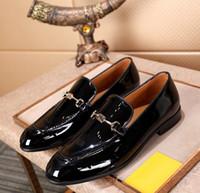siyah platform oxfords toptan satış-Yeni tasarımcı erkekler siyah patent metal ile hakiki deri sivri burun oxfords, marka erkekler elbise ayakkabı düğün ayakkab ...