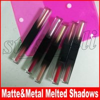 Wholesale matte eye shadow kits resale online - New Beauty Makeup Glitter Shimmer Matte Metal Liquid eye shadow eyeshadow liquid set eye shadows kit Melted Shadows
