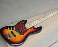 Wholesale left handed basses for sale - Group buy Left Handed Tobacco Sunburst Electric Bass Guitar with Strings Red Tortoise Pickguard Block Fret Inlay