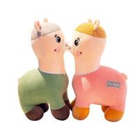 brinquedo gigante de elefante venda por atacado-Lhama Arpakasso Bichos de pelúcia 30 cm Alpaca Brinquedos de pelúcia macia Kawaii Bonito para presentes de Natal Brinquedos para crianças RRA2018