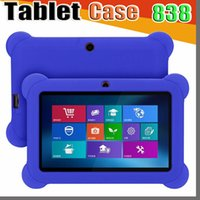Wholesale mid android tablet china resale online - 838 Anti Dust Kids Child Soft Silicone Rubber Gel Case Cover For quot Inch Q88 Q8 A33 A23 Android Tablet pc MID