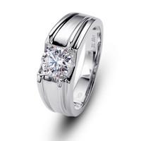 bagues de tension en argent sterling achat en gros de-La tension de Charm Man, sertie de diamants en argent sterling 925