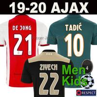 fußballhemden xl großhandel-18 19 20 AJAX FC Fußballtrikot DE JONG TADIC DE LIGT ZIYECH VAN BEEK NERES DOLBERG MEN KIDS Qualität für Thailand soccer jersey 2019 2020 Niederlande Ajax Champions Fußball-Trikot