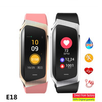 Wholesale smart bracelet oled online – New Fashion E18 Smart Wristband Bracelet Blood Pressure Smartband Heart Rate Tracker Monitor For Android IOS OLED Screen Watches