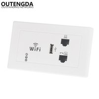 Wholesale rj45 standard for sale - Group buy US standard Type in wall wireless access point with RJ45 RJ11 ports WIFI router Mbps Embedded wlan in wall AP