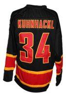 maillots noirs allemagne achat en gros de-Maillot de hockey Deutschland Germany Retro BRINK KUHNHACKL Nouveau broderie noire pour personnaliser tous les noms et numéros