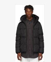 homens pretos frescos dos revestimentos venda por atacado-Designer Mens jaqueta homens jaquetas de marca do hoodie hip hop manga longa aquecimento carta cor preta em torno do chapéu jaqueta projeto fresco