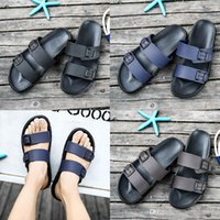beste außenleuchten großhandel-Beste Qualität Designer Sandalen Marke Hausschuhe blau schwarz braun Schuhe Mann Freizeitschuhe Hausschuhe Outdoor Strand Hausschuhe EVA leichte Sandalen